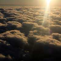 Sunlight above the clouds
