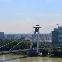 Bratislava UFO Central and bridge