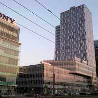Sony Building and other towers in Bratislava, Slovakia