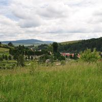Landscape with town scenery in Slovakia