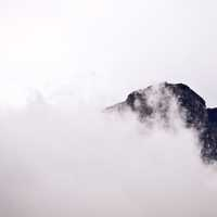 Fog and Mist over the Mountain Peak in Cape Town, South Africa