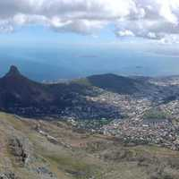 Panoramic landscape View of Cape Town, South Africa