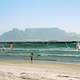 Table Mountain and Cape Town seen from the beach, South Africa