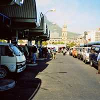 Taxi rank above Cape Town railway station