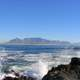 View towards Cape Town from Robben Island in South Africa