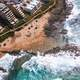 Beach and Shoreline landscape in Durban, South Africa