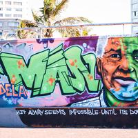 Nelson Mandela Graffiti on wall