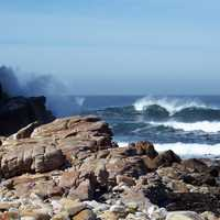 Landscape and shoreline at the Cape of Good Hope