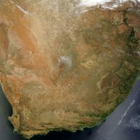 Satellite Image of South Africa