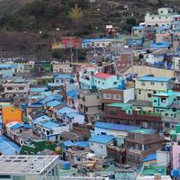 Houses and a village in Busan, South Korea