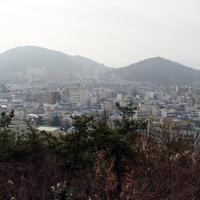 Jeongeup seen from Seonghwangsan in South Korea