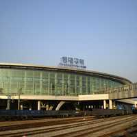 Dongdaegu Station in Daegu, South Korea