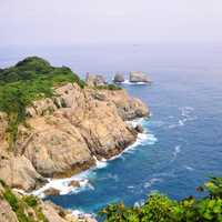 Landscape of the coast in South Korea