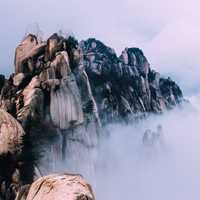 Mountains of Rocks in Seoraksan, Inje-gun, South Korea