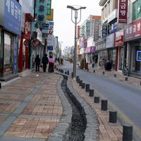 Street in central Jeongeup in South Korea