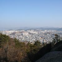 View of Mokpo from Yudalsan in South Korea
