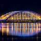 Chuncheon Bridge lighted up at night in Seoul, South Korea