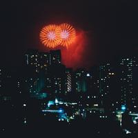 Fireworks over the Skyscrapers in Seoul, South Korea