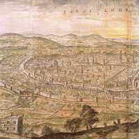 Barcelona in 1563 panoramic view