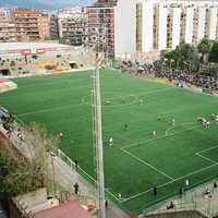 Soccer game in Barcelona, Spain