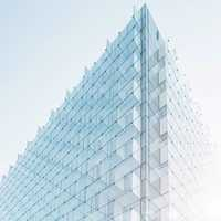 Glass Building in Madrid, Spain