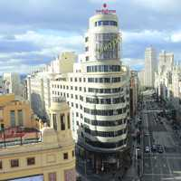 Streets and towers of Madrid
