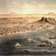 Alicante around year 1832 in Spain painting