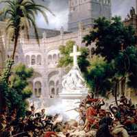 Assault of the French army at Santa Engracia Monastery in Zaragoza, Spain