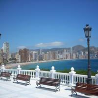 Benidorm skyline in Spain