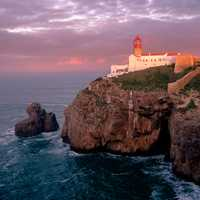 Cabo de São Vicente at sunrise in Spain