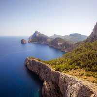 Coastline and scenic landscape in Mallorca, Spain
