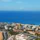 Costa Adeje with shoreline and city