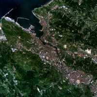 Gran BilBao Satellite Image in Spain