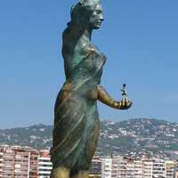 Monument to the Fisherman's Wife in Lloret De Mar, Spain