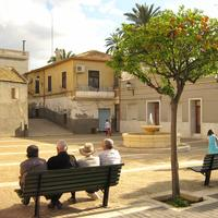 Old part of the city, Barrio del Raval in Elche, Spain
