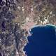 Palma pictured from the International Space Station in Spain