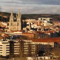Panoramic of Burgos, view facing north Cityscape in Spain