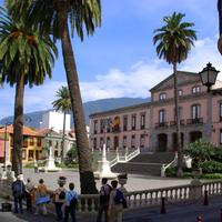 Plaza del Ayuntamiento in La Orotava, Spain