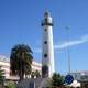 Rotunda lighthouse in La Luz port in Las Palmas, Spain