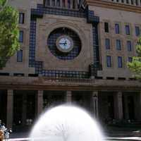 Town Hall Albacete with Fountain in Front in Spain