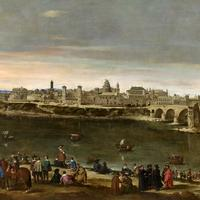 View of Zaragoza painting in Spain