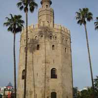 Full View of La Torre del Oro in Seville, Spain