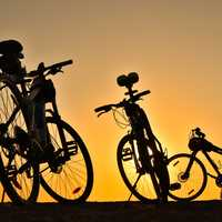 Bicycles in the sunset