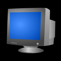 Computer CRT Monitor vector clipart