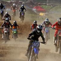 Motor Cross Riders on the course