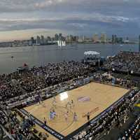 Outdoors Basketball Stadium