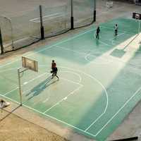 People on Basketball Court