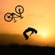 Stunt Cyclist at Sunset