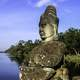 Buddha statue on rock in Sri Lanka