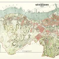 Map of Gothenburg in 1888